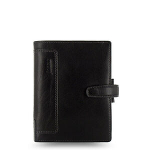 Filofax Pocket personal Holborn Organiser Planner Diary Leather Black 025115