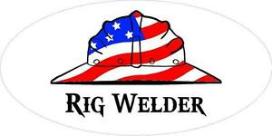 3 Rig Welder Hand Us Flag Hard Hat Union Oilfield Toolbox Helmet Sticker H282