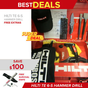 Hilti Te 6 s Preowned Free Survival Knife Bits Extras Fast Ship