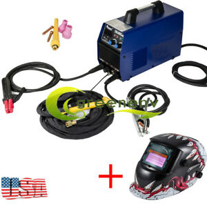 200amp 2in1 Inverter Welder Tig Arc Welding Machine W cooling Welding Helmet