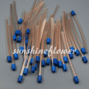 Dental Disposable Saliva Ejector Low Volume Suction Aspirator Tube Blue Tips