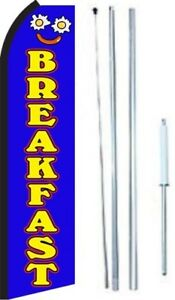 Breakfast Swooper Flag With Complete Hybrid Pole Set