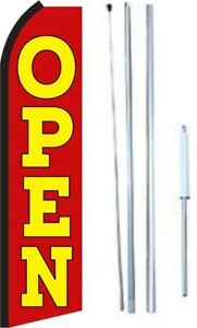 Open Swooper Flag With Complete Hybrid Pole Set