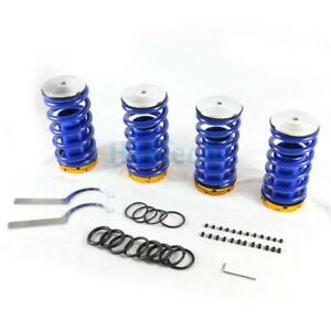 Lowering Coilovers Adjustable Spring Kits Blue For 88 00 Civic 94 01 Integra