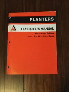 Allis Chalmers 390 Planter Operator s Manual Ac 100 Pgs