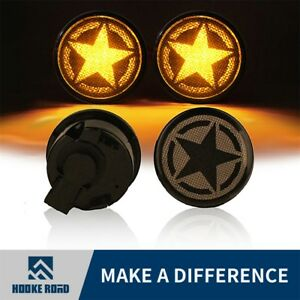 Pair Five Star Led Smoke Turn Signal Lights For 2007 2018 Jeep Wrangler Jk