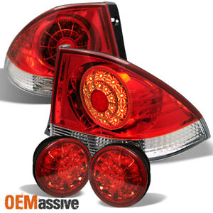 2001 2005 Lexus Is300 Altezza Red Clear Led Tail Lights W led Trunk Piece Set
