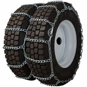 11 22 5 11r22 5 Dual Tire Chains 7mm Link Cam Snow Ice Traction Commercial Truck