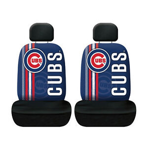 Baseball New Chicago Cubs Low Back Front Seat Covers Universal Fit Pair