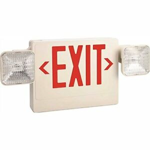 Monument Exit And Led Emergency Light Combination Single Face With Red Exit L