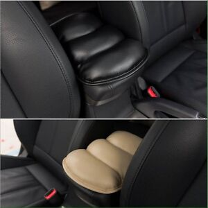 Universal Pu Car Center Console Armrest Vehicle Cover Seat Auto Pad Black Only