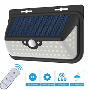 Solar Lights Outdoor Motion Sensor Wall Lights With 68 Super Bright Led Wide
