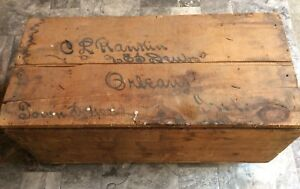 Antique Wooden Shipping Crate Orleans Indiana Town School