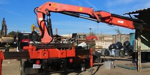 Knuckle Boom Crane 1992 Palfinger 14500 Fully Functional remote Control Included