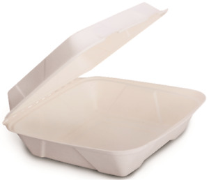Renown Select Food Container Hinged 9 X 9 Compostable 250 Per Case