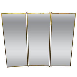 Brot Dressing Mirror With Brass Frame