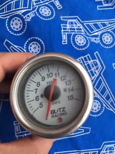 Jdm Blitz 52mm Water Temp Gauge Used Ae86 R32 Sw20 Fd3s Jza80