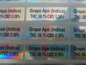 3000 Holographic Personalized Waterproof Name Stickers Ingredients Labels Decals