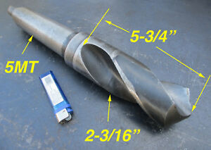 2 3 16 5mt Morse Taper Hss Drill Bit Approx 3 Flute Length Free Shipping