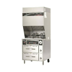 Wells Wvf 886rw Ventless Dual Fryer With Auto lifts With 2 Drawer Warmer Base