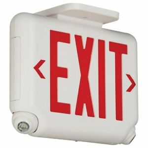 Dual lite Led Combination Exit emergency Light Red Letters White
