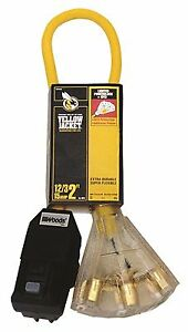Coleman Cable Yellow Jacket Right Angle Gfci With 2 Ft 12 3 Sjtw Cord And Lig