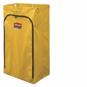 24 gallon Janitorial Cleaning Cart Vinyl Bag Traditional Yellow 3559267