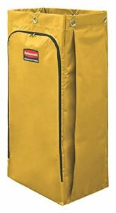 34 gallon Janitorial Cleaning Cart Vinyl Bag Traditional Yellow 3559268