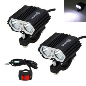 2x 30w 2x T6 Motorcycle Truck Led Driving Headlight Fog Lamp Spot Light Switch