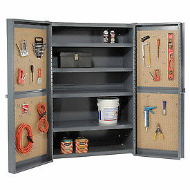 Global 8482 organizer Heavy Duty Storage Cabinet With Pegboard Panels 38x2