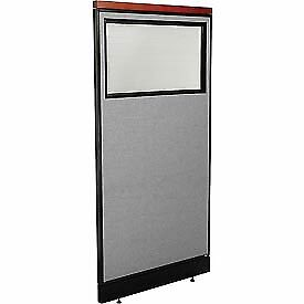 Interion Deluxe Office Cubicle Panel Partial Window Pass thru Cable 36 1 4