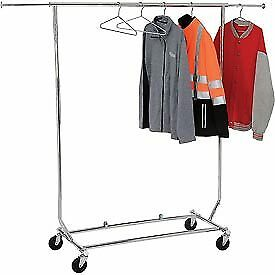 Econoco Salesman s Collapsible Portable Clothing Rack Rcs 1 Round Tubing Ch