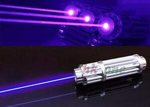 Military High Power 450nm 1w Blue Laser Pointer Visible Beam Lazer battery Box
