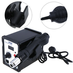 Soldering Rework Station Desolder Iron Welder Hot Air Gun W Nozzle Eu us Plug