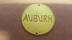 Auburn Early Hubcap Medallion Acid Etched Brass