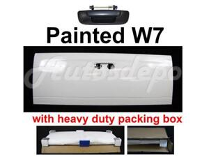 Painted W7 White Tailgate With Blk Handle For 2002 2008 Dodge Ram Pickup