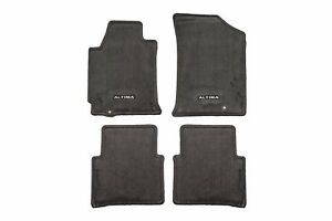 2008 2012 Nissan Altima Charcoal Black Carpeted Floor Mats Front