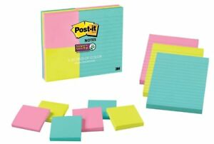 Post It Sticky Notes Lined Notes 90 X 9pads 810 Sheets Assorted Color Sizes