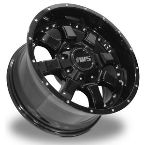 4 17x9 6x139 7 Iws 5005 Black Wheels Rims Chevy Gmc Sierra Tacoma 12mm