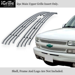 Fits 1999 2002 Chevy Silverado 1500 00 06 Tahoe Stainless Tubular Grille