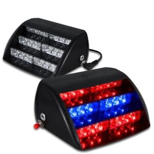 Red Blue Strobe Light Vehicle Car Led Fire Fighter Ems Dash Emergency Warning