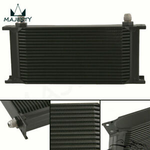 19 Row 8an Universal Engine Transmission Oil Cooler 3 4 Unf16 An 8 Black