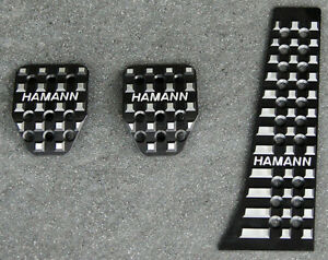 Bmw Hamann Brand Oem Black Anodized Aluminum Manual 3 Piece Pedal Pad Set New