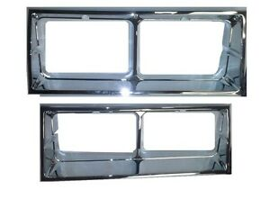 New 1981 86 Oldsmobile Cutlass Supreme Brougham Chrome Head Light Bezel Set
