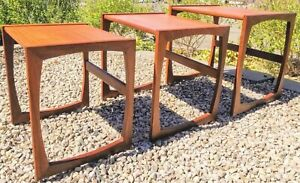 Danish Mcm Nesting Tables Designed By R Bennet For G Plan Quadrille Range 1967