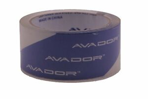 Avador Crystal Clear High Performance Heavy Duty Solvent Base Packaging Tape
