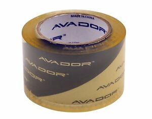 Avador Crystal Clear High Performance Heavy Duty Water Base Packaging Tape
