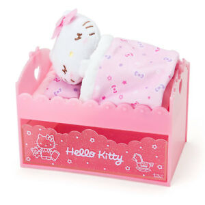 Sanrio Hello Kitty Bed Shape Drawer With Plush Doll designed In Japan Reg Ship