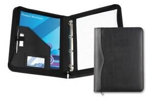 David Van Hagen Houghton Pu A4 Zip Around Ring Binder Folder Black