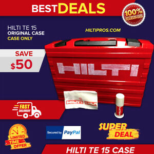 Hilti Te 15 Tool Case only Case Preowned Free Hilti Bag Quick Shipping